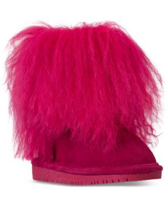 BEARPAW Toddler Girls' Boo Fur Boots