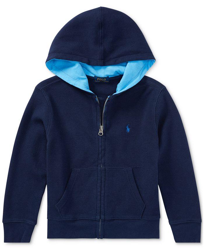 Polo Ralph Lauren - Full-Zip Cotton Hoodie, Toddler Boys (2T-4T)