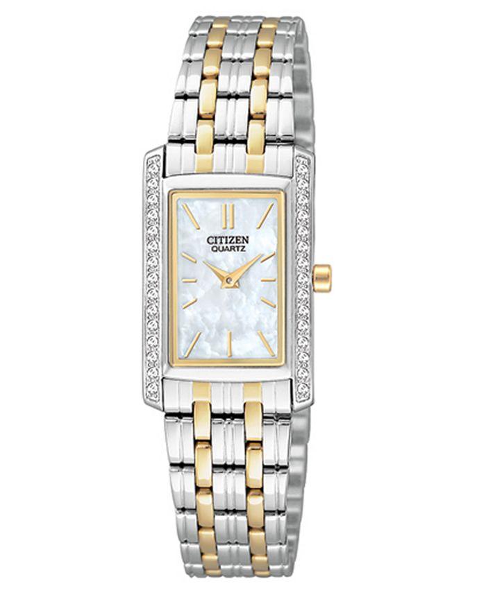 Citizen - Women's Two Tone Stainless Steel Bracelet Watch 19mm EK1124-54D