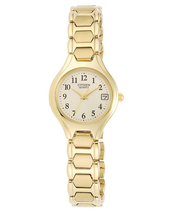 Citizen Women's Gold-Tone Stainless Steel Bracelet Watch 23mm EU2252-56P