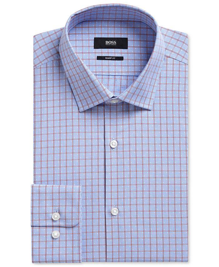 Hugo Boss - Men's Sharp-Fit Checked Cotton Dress Shirt