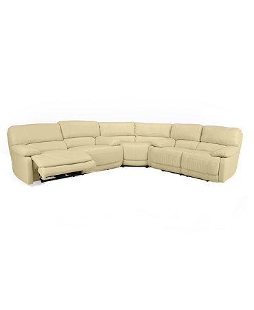 Nina leather 3 piece power reclining sectional sofa sofa for 3 piece sectional sofa with wedge