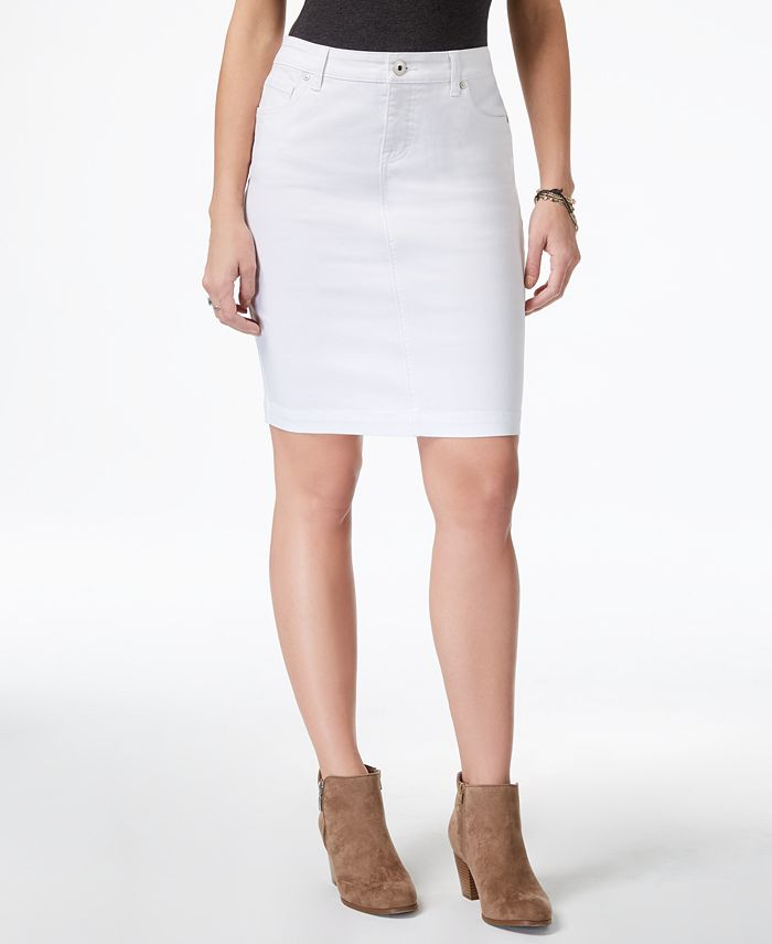 Style & Co - Denim Skirt, Rinse Wash