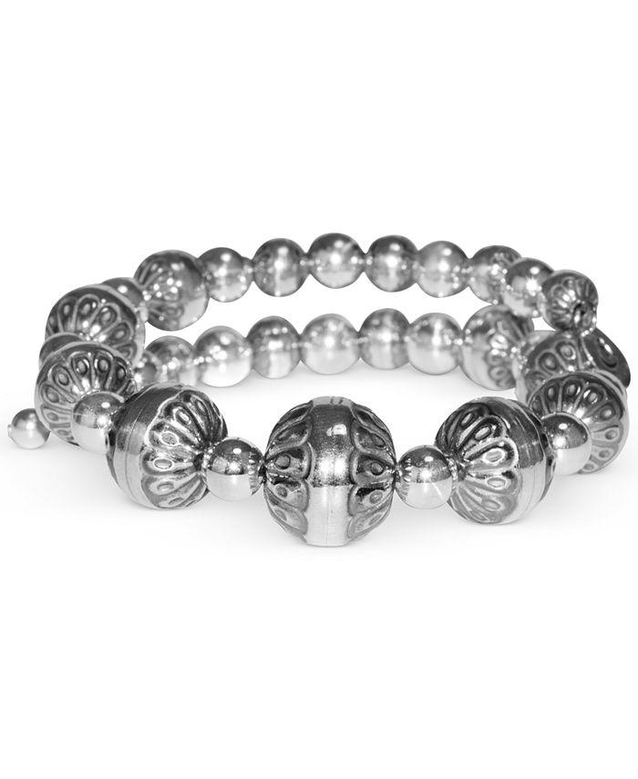 American West - Filigree Bead Coil Bracelet in Sterling Silver