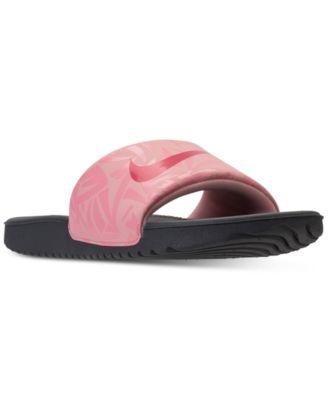 Girls' Kawa Print Slide Sandals