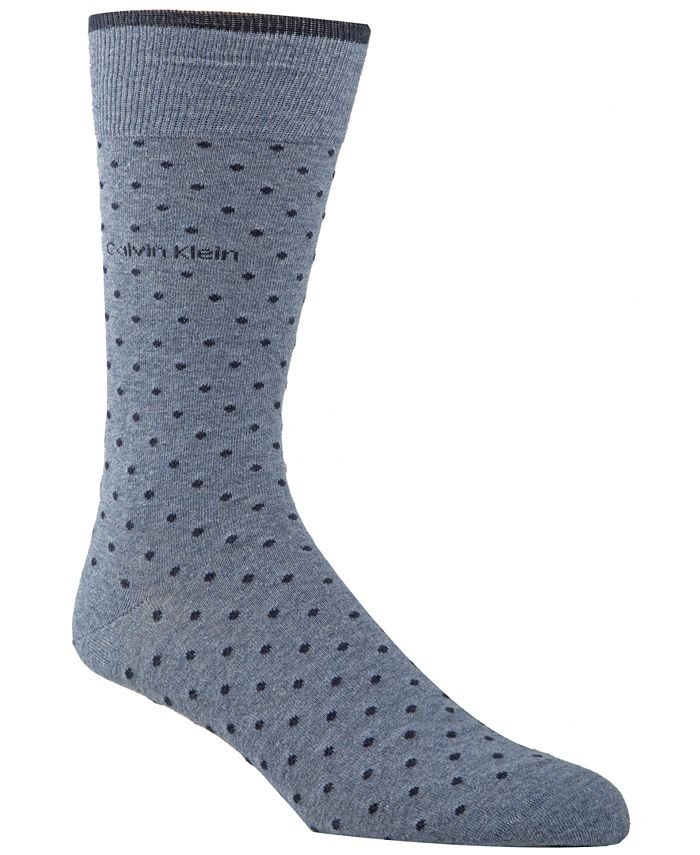 Calvin Klein - Men's Giza Pindot Crew Socks