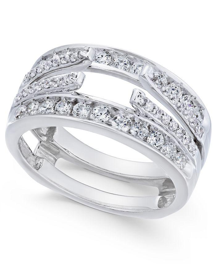 Macy's - Diamond Enhancer Ring Guard (1 ct. t.w.) in 14k White Gold