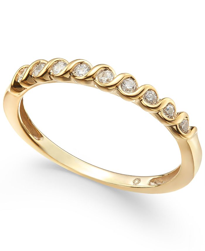 Macy's - Diamond S-Curve Stack Ring (1/6 ct. t.w.)