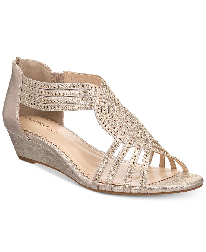 Charter Club - Ginifur Wedge Sandals