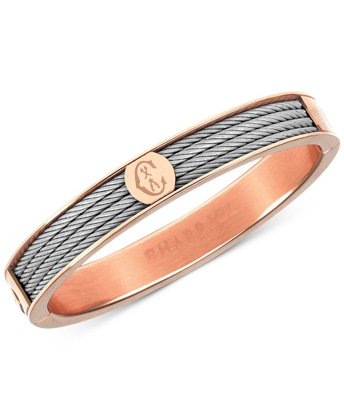 CHARRIOL - Two-Tone Bangle Bracelet in Stainless Steel and Rose Gold-Tone PVD Stainless Steel