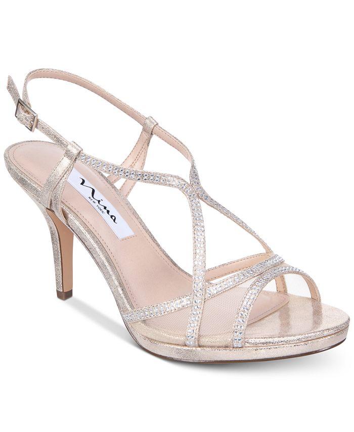 Nina - Blossom Embellished Evening Sandals