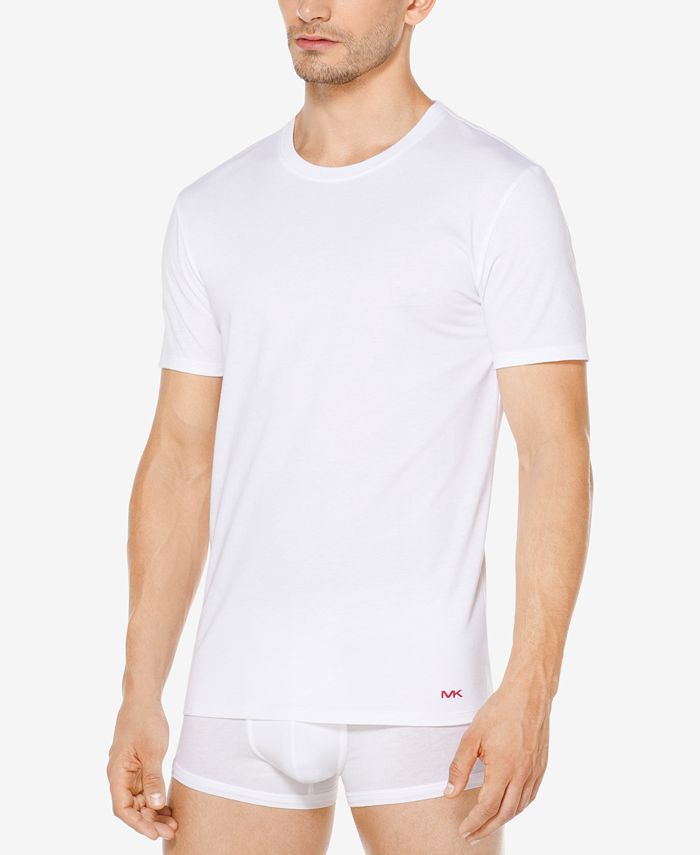 Michael Kors - Men's 3-Pk. Performance Cotton Crew-Neck Undershirts