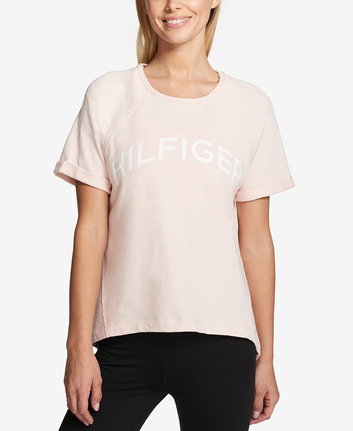 Tommy Hilfiger - Cotton Cuffed-Sleeve Graphic T-Shirt