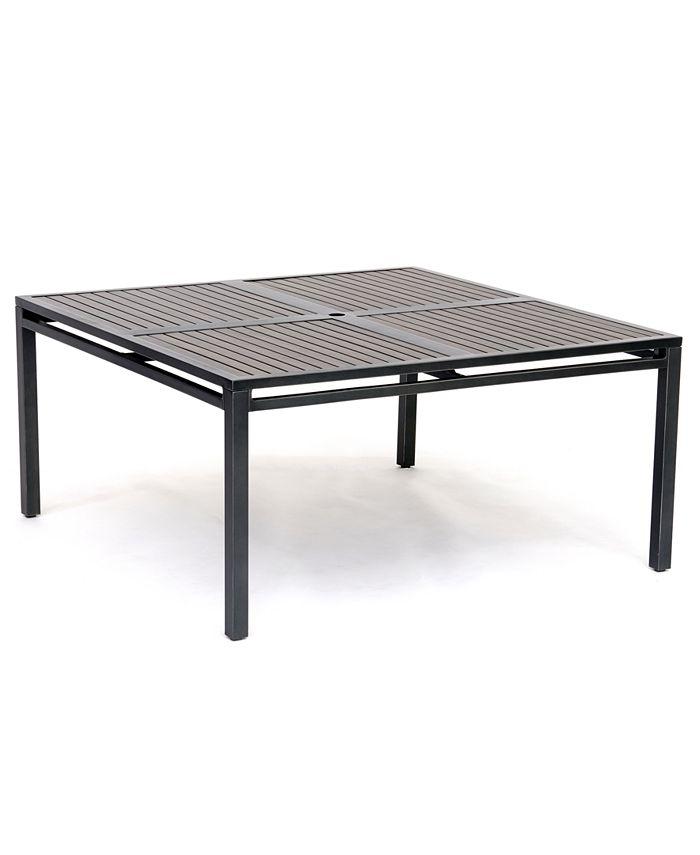 "Furniture - Aluminum 62"" Square Outdoor Dining Table"