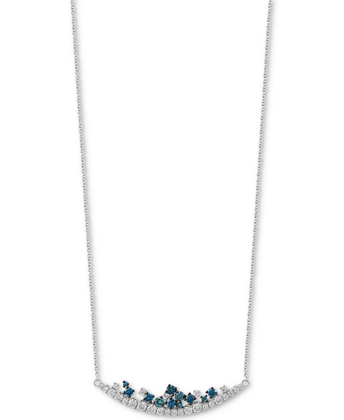"""EFFY Collection - Diamond 18"""" Statement Necklace (3/4 ct. t.w.) in 14k White Gold"""