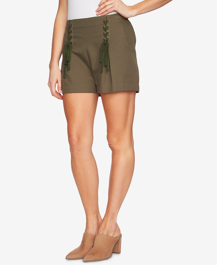1.STATE - High-Waist Lace-Up Shorts