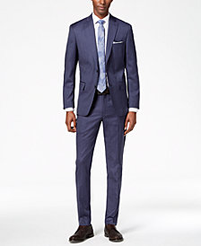 DKNY Men's Modern-Fit Stretch Textured Wool Suit Separates