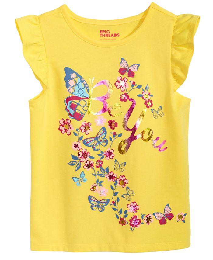 Epic Threads - Sequin Butterfly T-Shirt, Little Girls