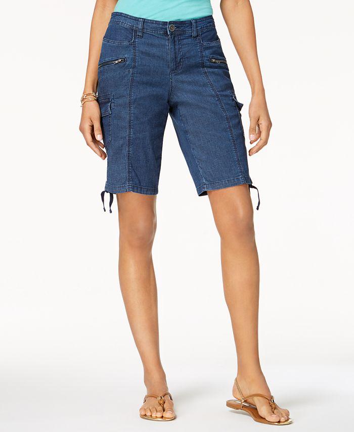 Style & Co - Zipper Bermuda Cargo Shorts