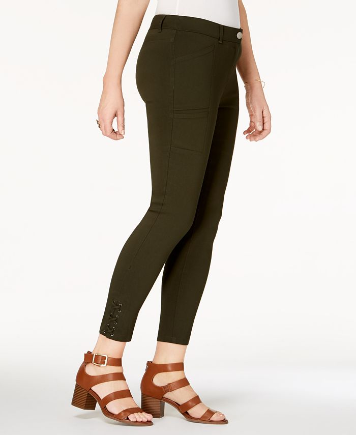 Style & Co - Lace-Up Straight-Leg Pants