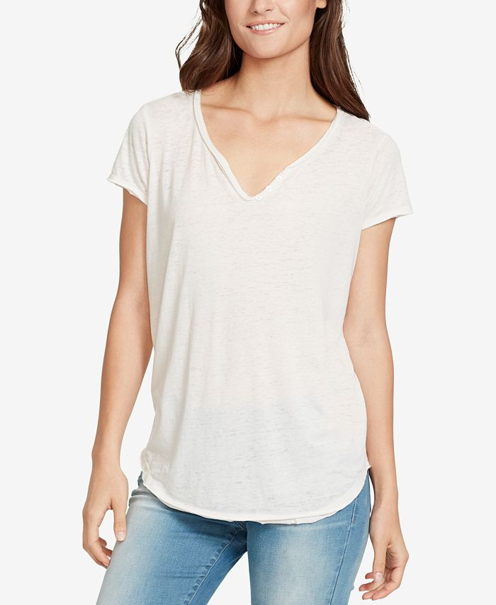 WILLIAM RAST - Button-Trim T-Shirt