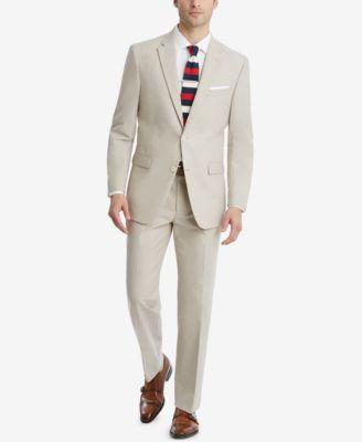 Men's Modern-Fit TH Flex Stretch Chambray Suit Pants