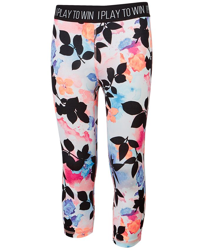 Ideology - Tropical-Print Cropped Leggings, Big Girls (7-16),