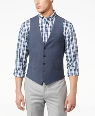 Men's Slim-Fit Active Stretch Performance Wool Vest, Created for Macy's