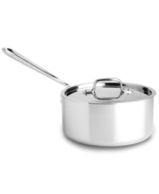 All-Clad Stainless Steel Covered Saucepan, 3 Qt.