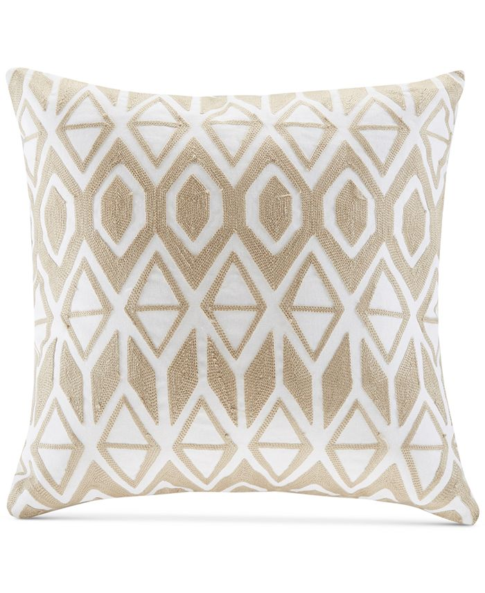 """Harbor House - Anslee 18"""" x 18"""" Embroidered Square Decorative Pillow"""
