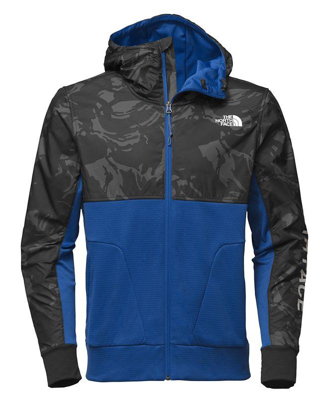 The North Face Men's Printed Full-Zip Fleece Hooded Jacket