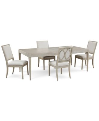 Rachael Ray Cinema Expandable Dining Furniture, 5-Pc. Set (Rectangular Dining Table & 4 Side Chairs)