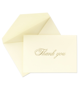 Crane Stationery, Gold Hand Engraved Thank You Notes