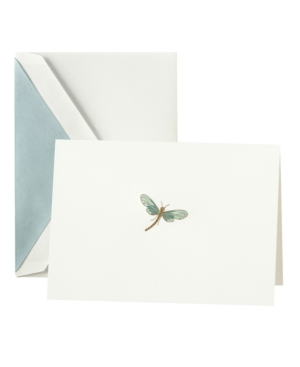 Crane Stationery, Hand Engraved Dragonfly Note Cards