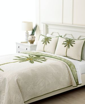 Closeout! Martha Stewart Collection Coconut Palm Full/Queen Quilt Bedding