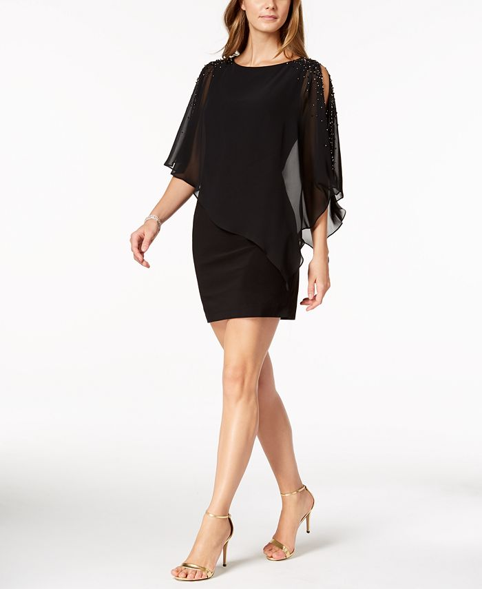 XSCAPE - Capelet Sheath Dress