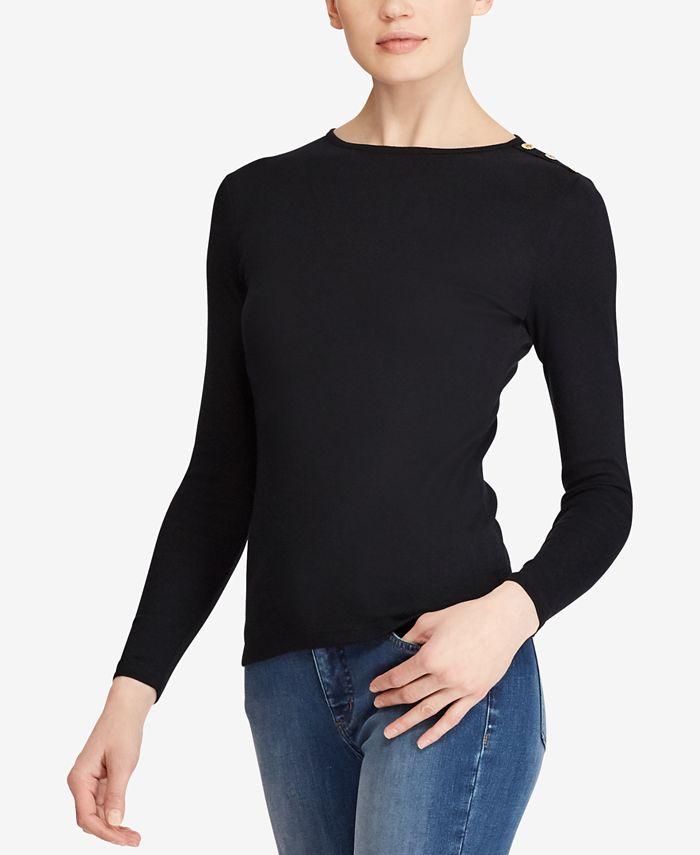 Lauren Ralph Lauren - Button-Shoulder Top