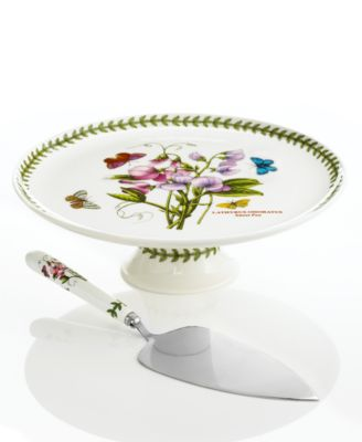 Portmeirion Dinnerware, Botanic Garden Footed Cake Stand with Server