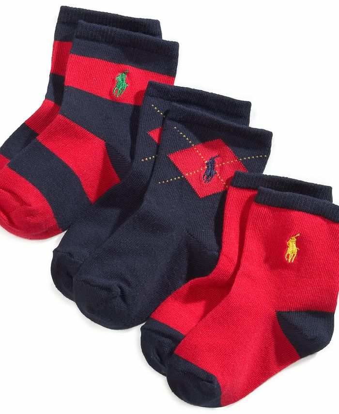 Polo Ralph Lauren - Baby Socks, Baby Argyle Rugby Socks 3 Pack