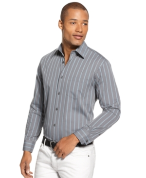 Alfani Shirt, Park Dobby Stripe Long Sleeve Shirt