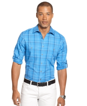Alfani Shirt, Slim Fit Prescott Plaid