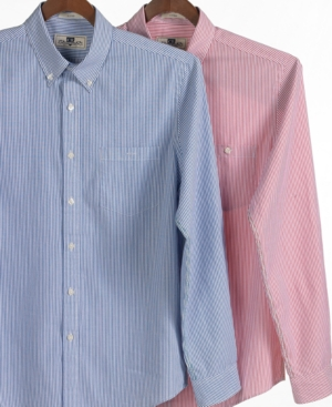 Club Room Shirt, Slim Fit Oxford Even Stripe Shirt