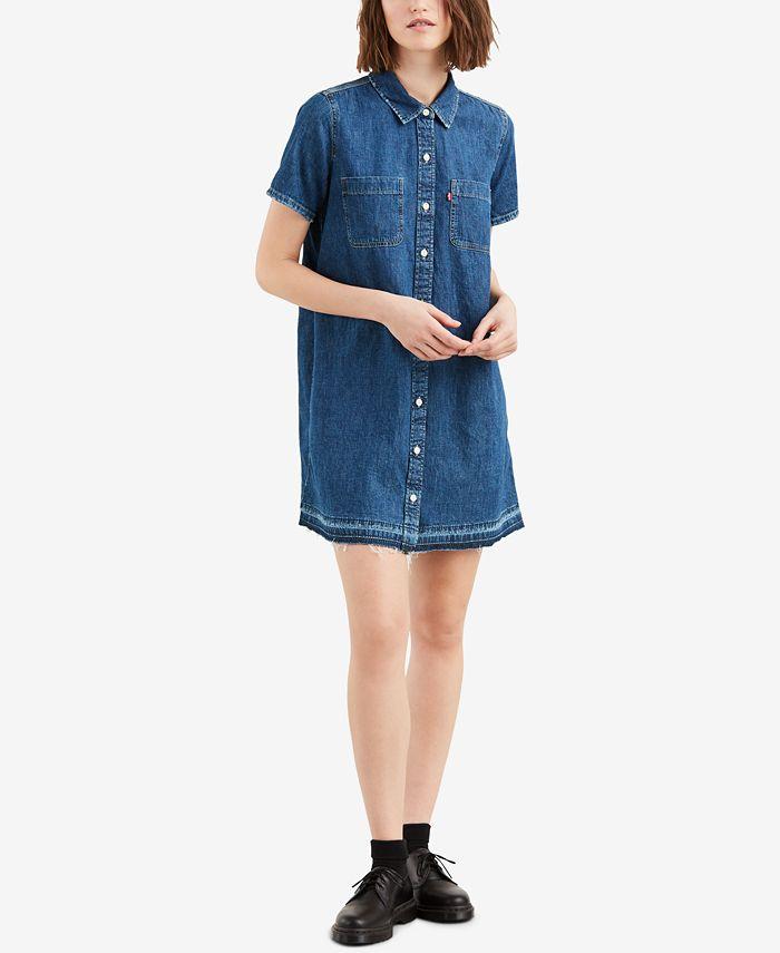 Levi's Women's Denim Shirtdress & Reviews - Women - Macy's