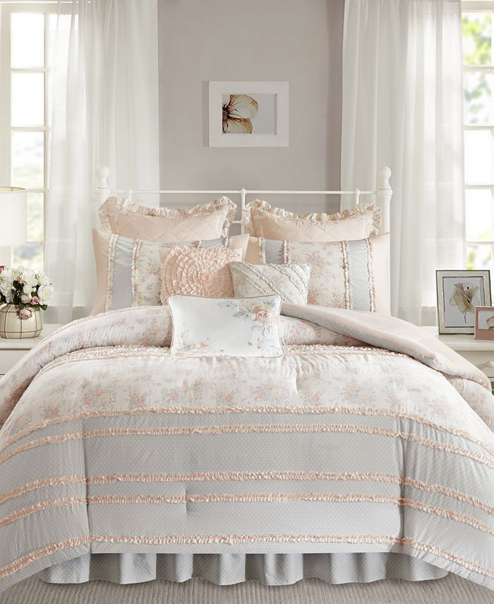 Madison Park - Serendipity Cotton 9-Pc. Queen Comforter Set