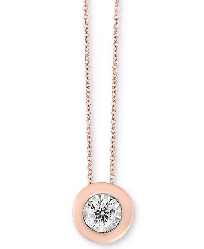 "EFFY Collection - Diamond Bezel Frame 18"" Pendant Necklace (1/5 ct. t.w.)"