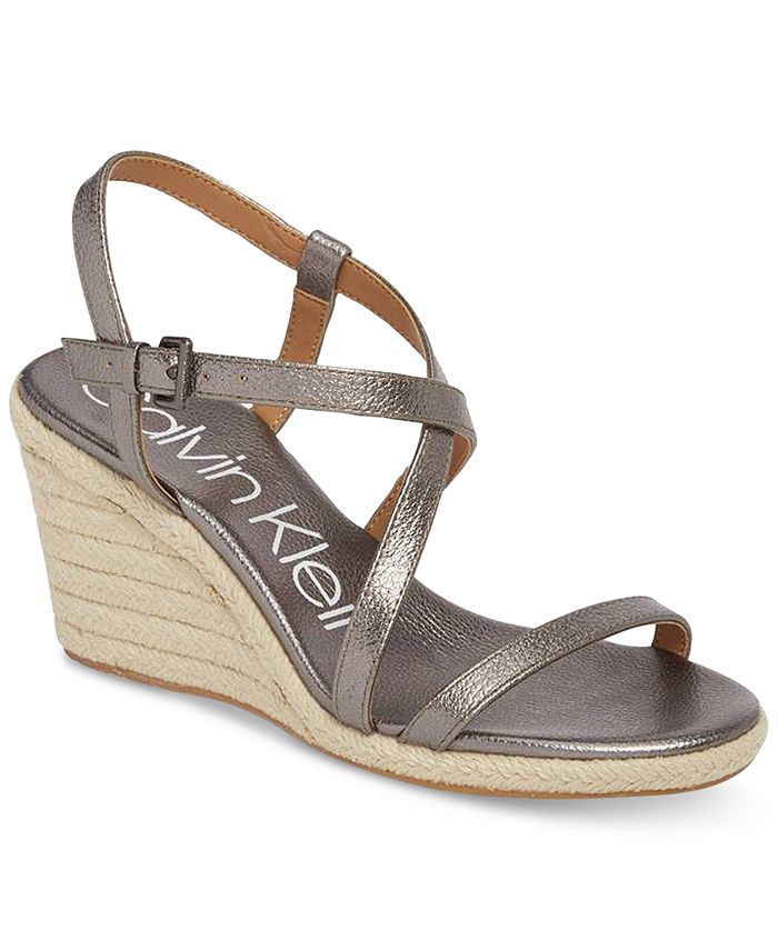 Calvin Klein - Women's Bellemine Wedge Sandals