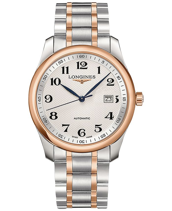 Longines - Men's Swiss Automatic Master Collection Stainless Steel & Gold Cap 200 Bracelet Watch 40mm