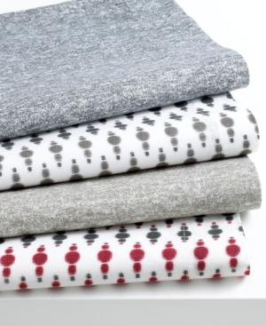 Bar III Bedding, Ikat Dot Grey Twin Sheet Set Bedding