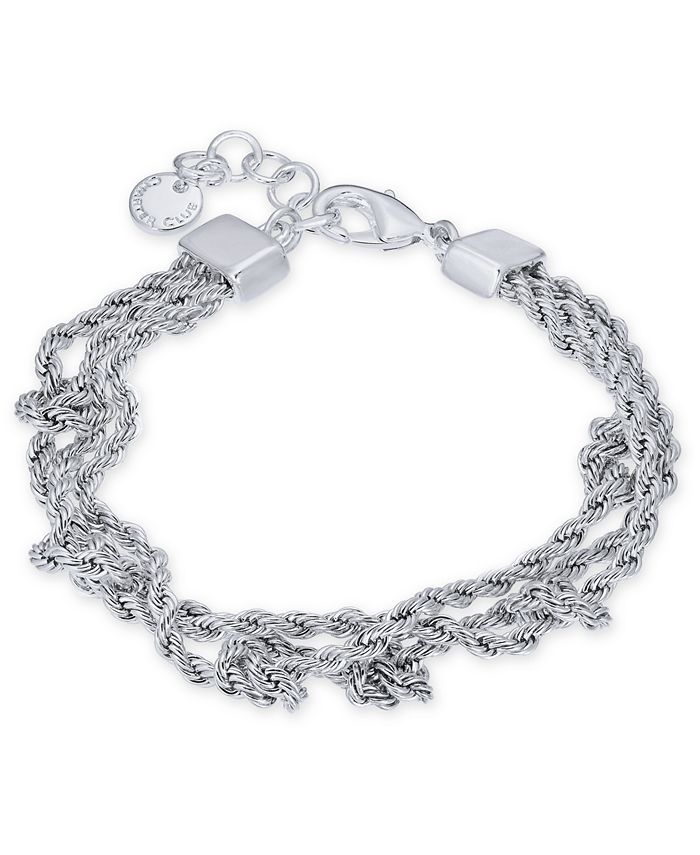 Charter Club - Silver-Tone Multi-Chain Knotted Link Bracelet