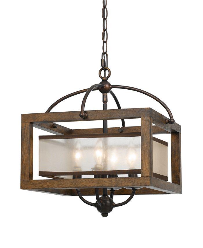Cal Lighting - 4-Light Semi-Flush Pendant